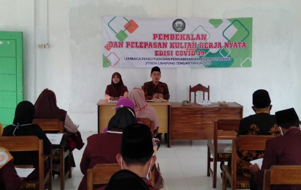 STISDA Lampung Tengah, Bekali Mahasiswa KKN KS Peduli Covid-19
