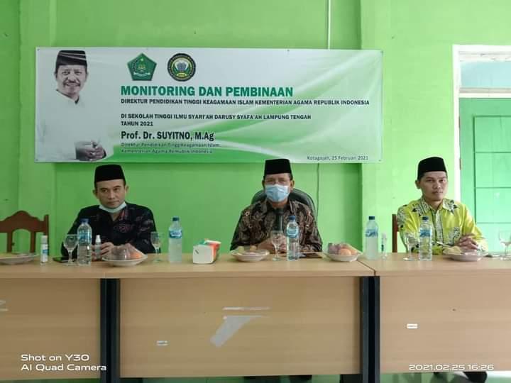 Dirjen Diktis Kemenag RI Monitoring dan Pembinaan Di Kampus STIS Darusy Syafa'ah Lampung Tengah