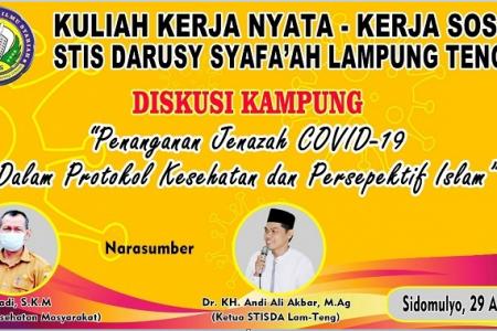 Diskusi Kampung Bersama Ketua STIS Darusy Syafa'ah Tentang Penanganan Jenazah Covid-19
