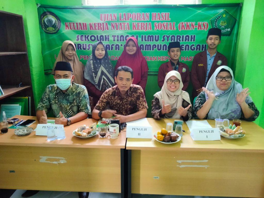 Ujian Laporan Hasil KKN-KS STIS Darusy Syafa'ah